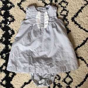 Baby girl dress and bloomers